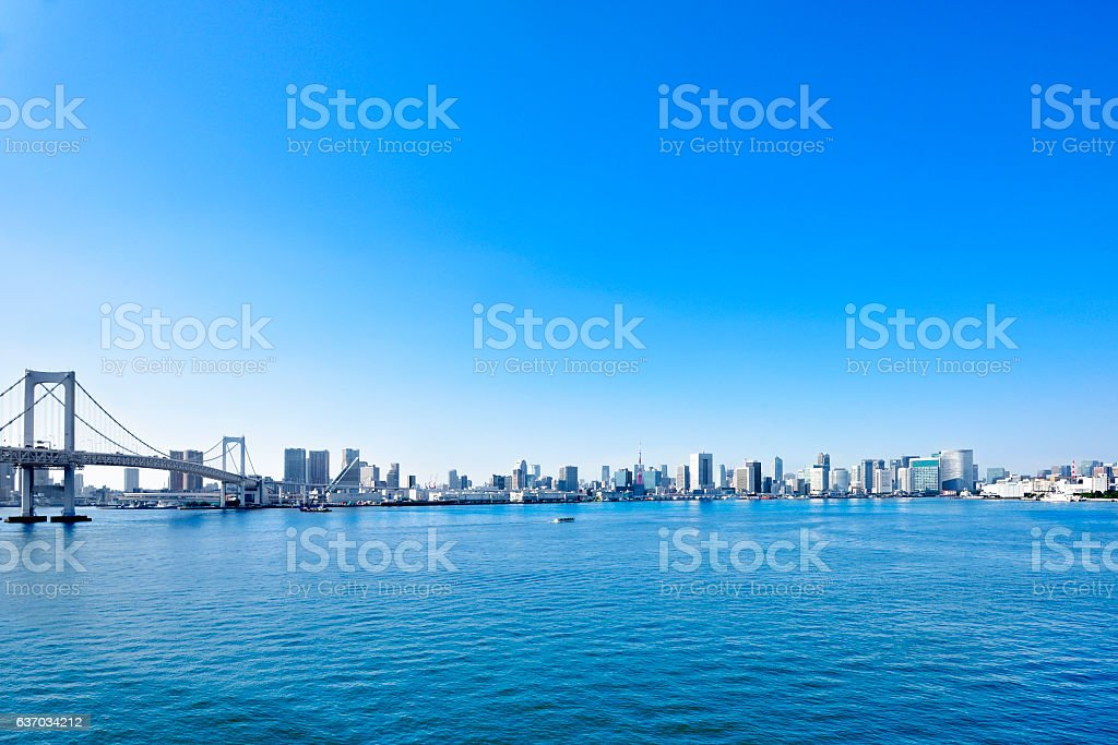 Japanese Tokyo bay area stock photo