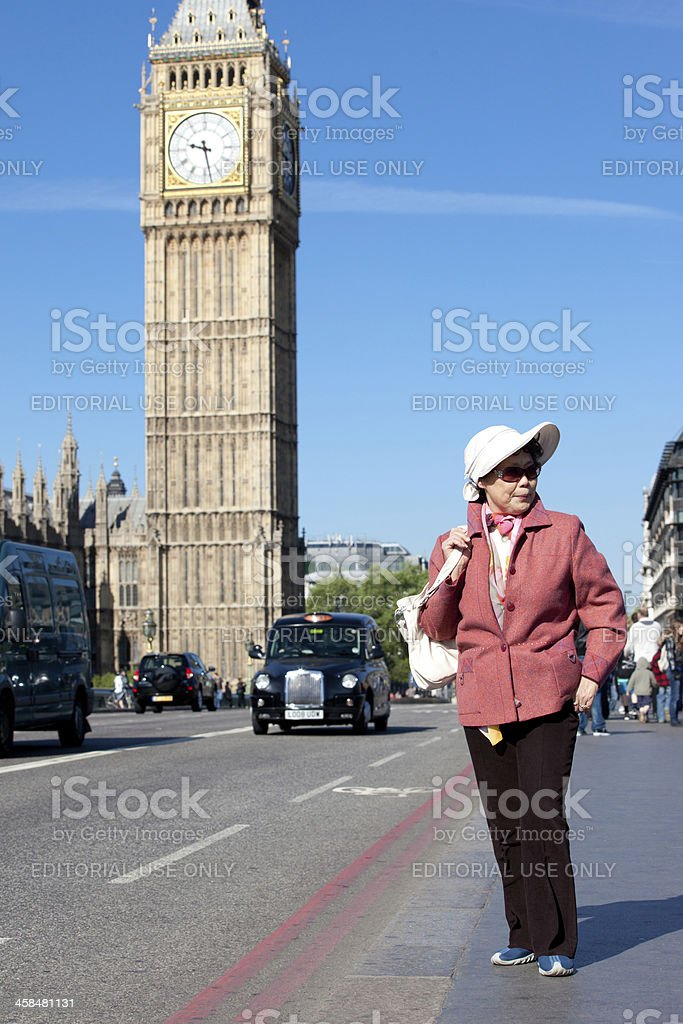 Japanese tourist in London royalty-free stock photo