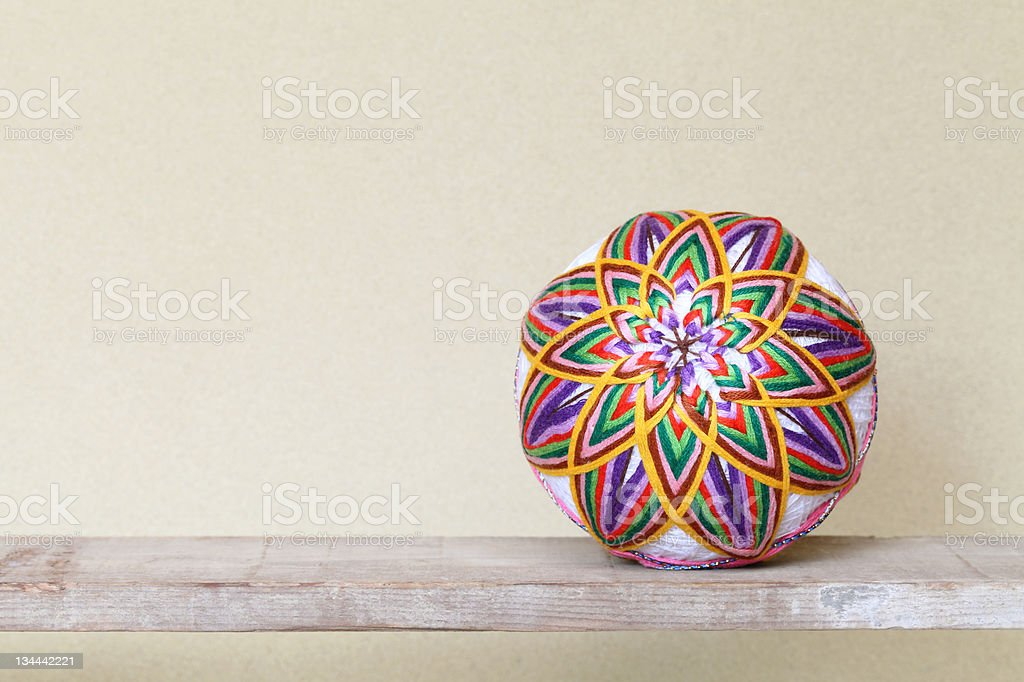 Japanese traditional ball royalty-free stock photo