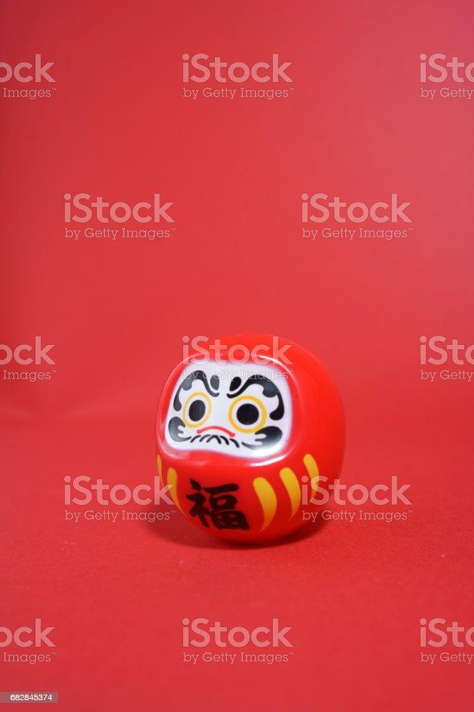 Japanese traditional doll called 'Daruma' stock photo
