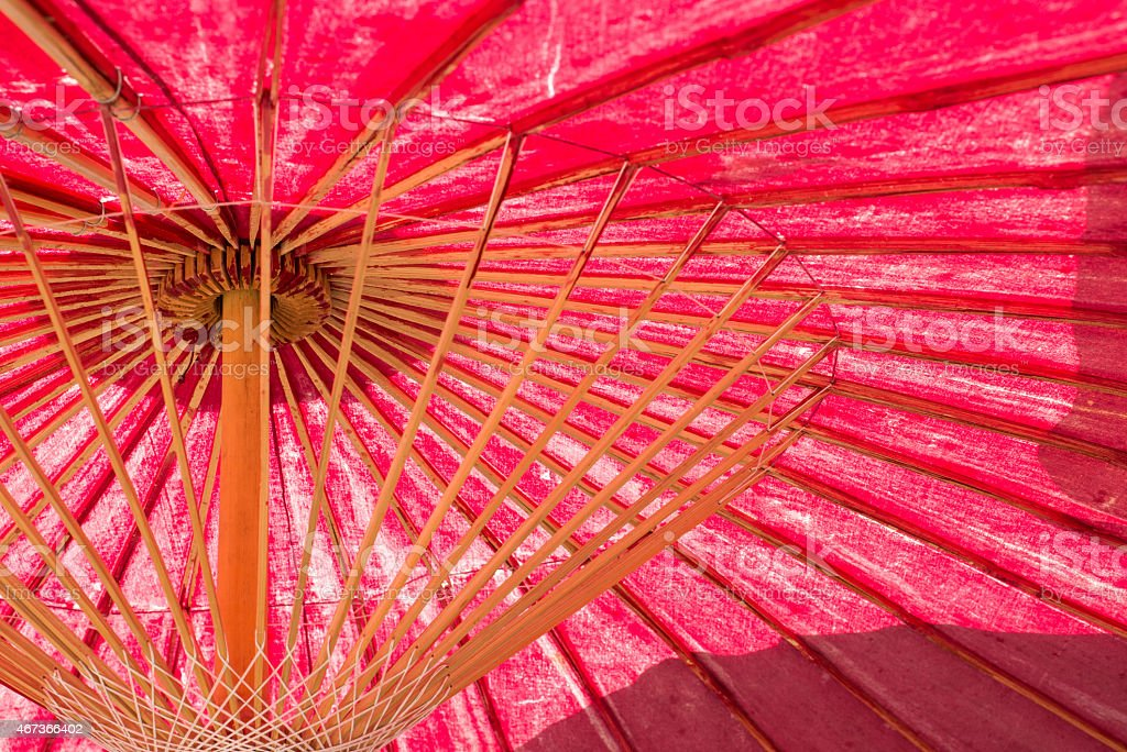japanese traditional red umbrella stock photo