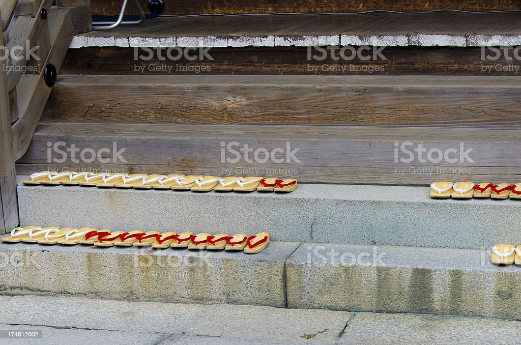 Japanese traditional shoes. royalty-free stock photo
