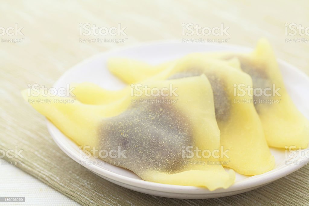 Japanese traditional snack royalty-free stock photo