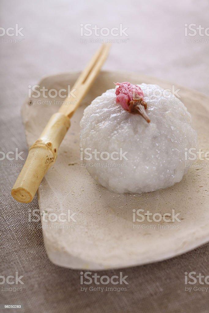 Japanese traditional sweet rice cake 'mochi' stock photo