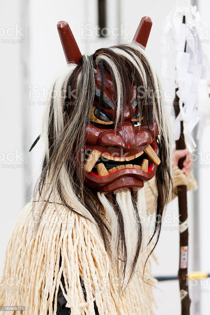 Japanese Traditional Theatre Performance Costume royalty-free stock photo