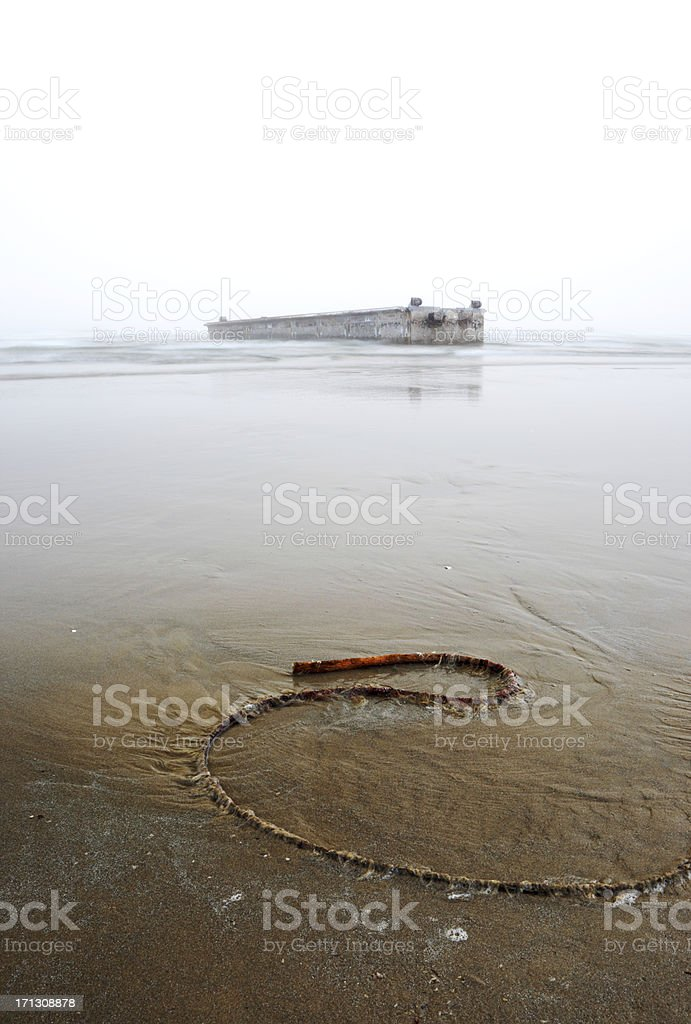 Japanese Tsunami Debris Oregon. royalty-free stock photo