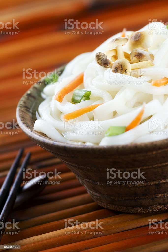 Japanese Udon Noodles royalty-free stock photo