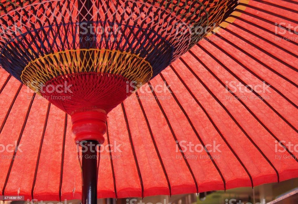 Japanese umbrella royalty-free stock photo