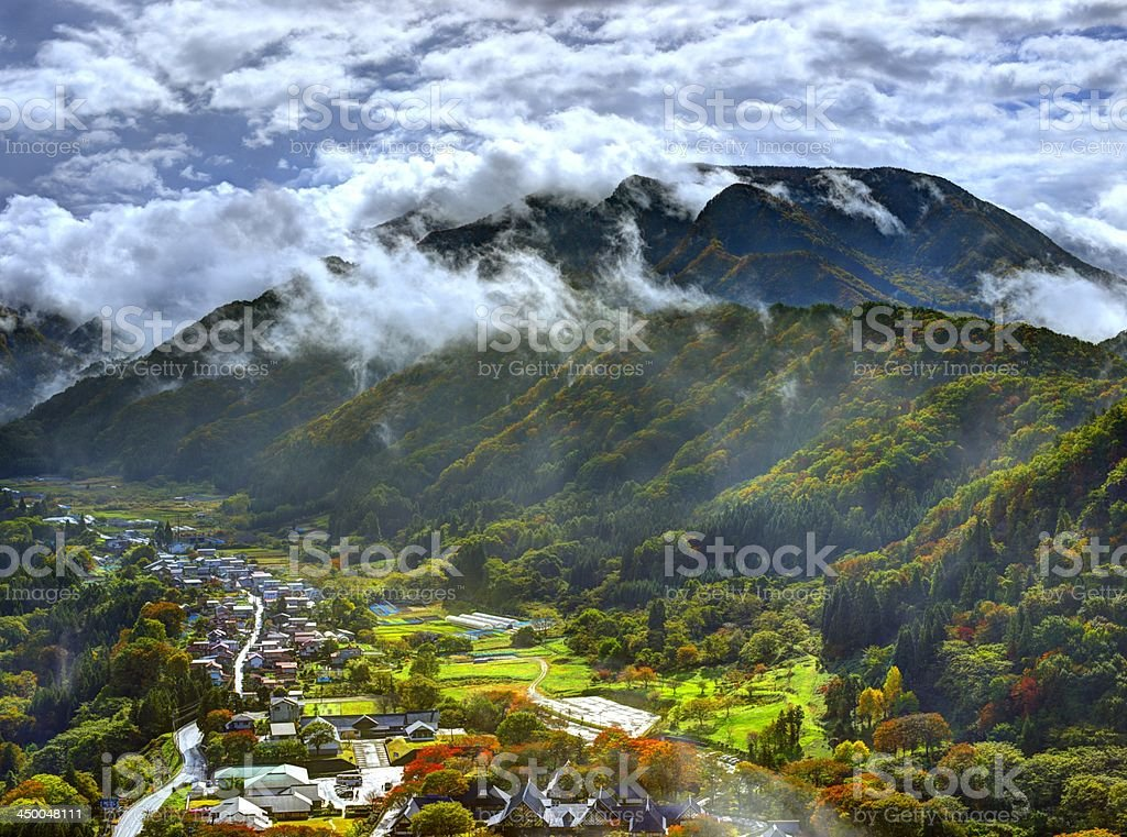Japanese Village stock photo