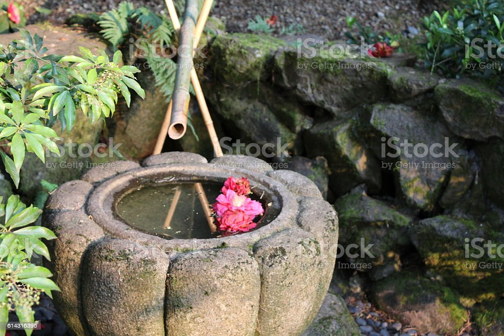 Japanese Water Feature stock photo