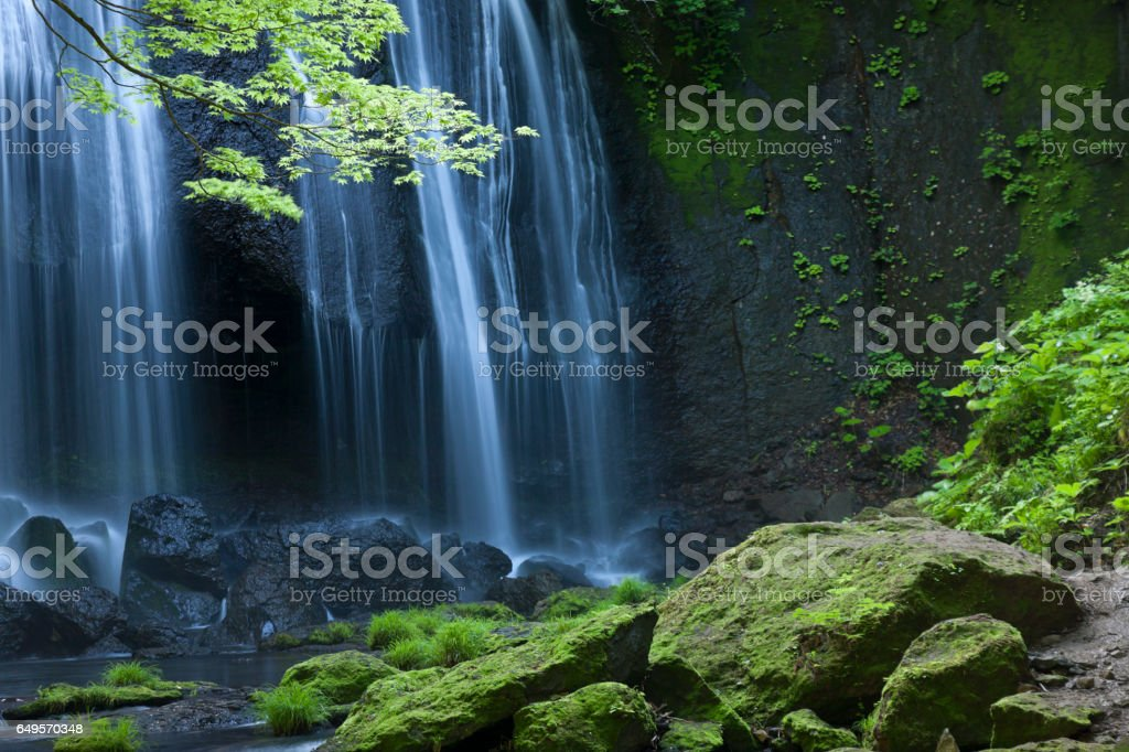 Japanse Waterfall Landscape stock photo