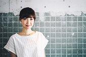 Japanese woman portrait.