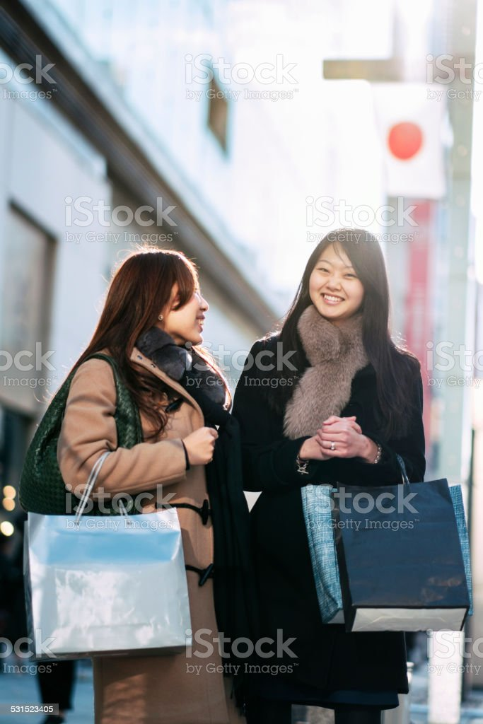 Japanese Women in Ginza Tokyo stock photo