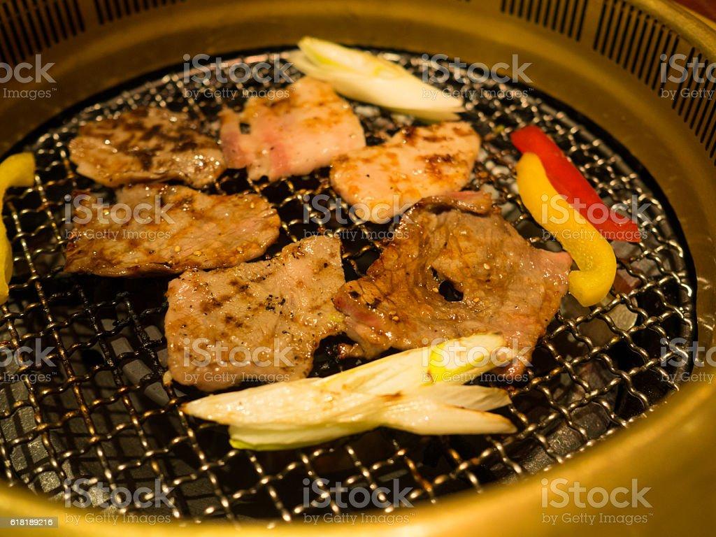 japanese yakiniku barbecue stock photo