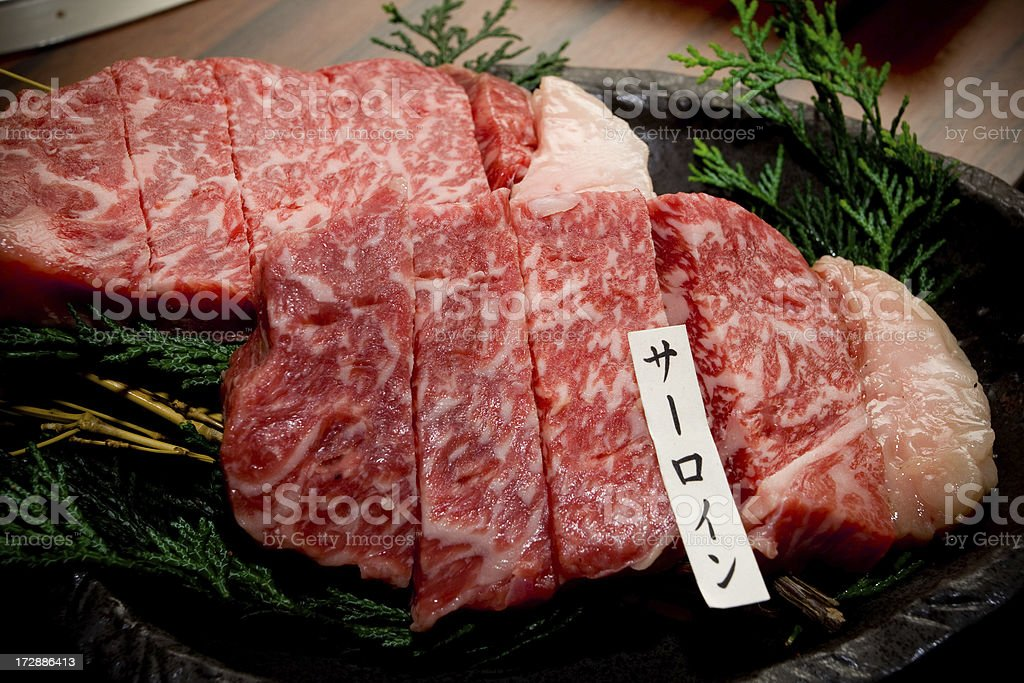 Japanese Yakiniku - Matsusaka beef stock photo