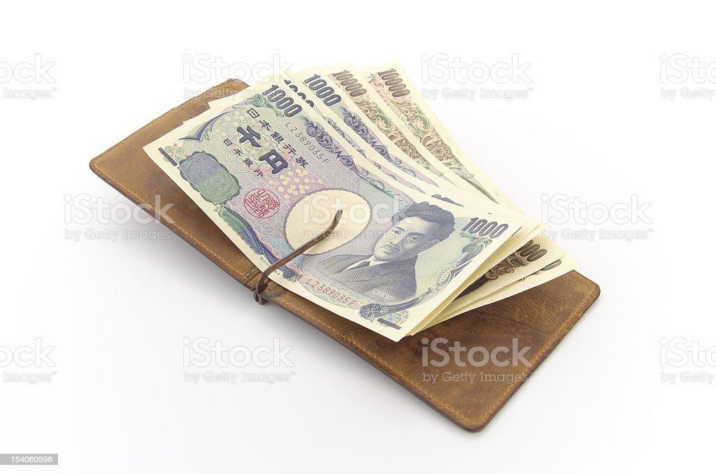 Japanese Yen bills stock photo