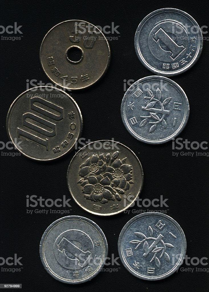 Japanese yen coins. royalty-free stock photo
