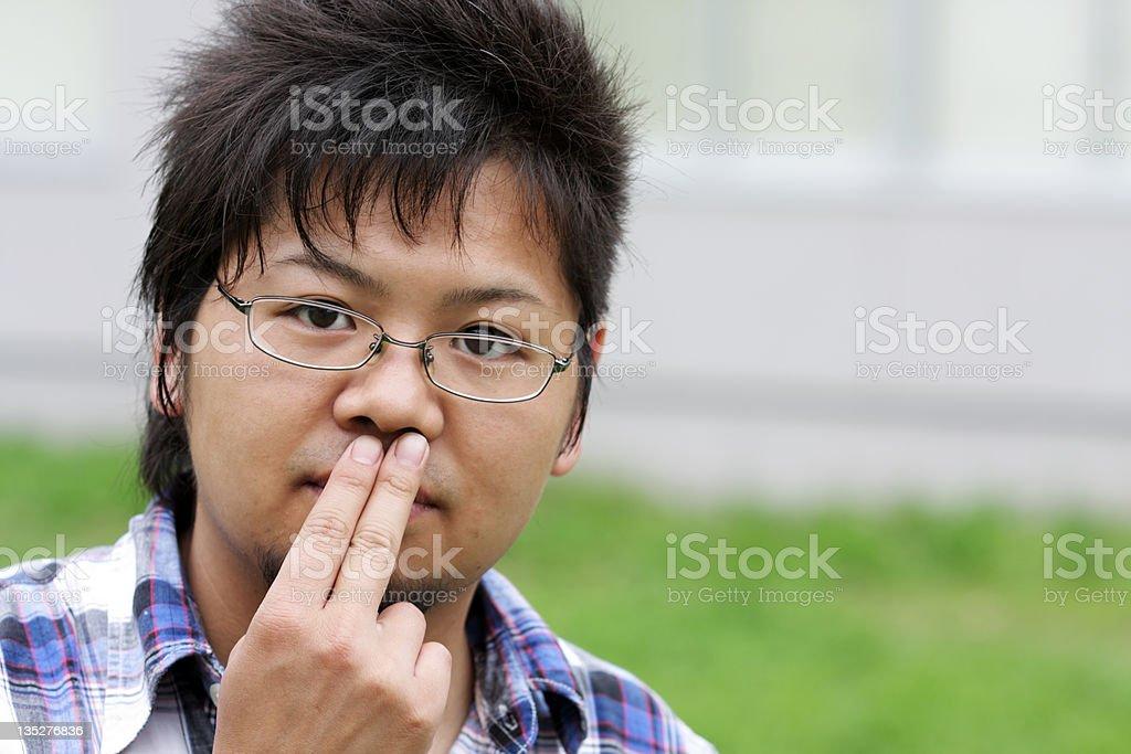 Japanische junger Mann in Gläser Lizenzfreies stock-foto