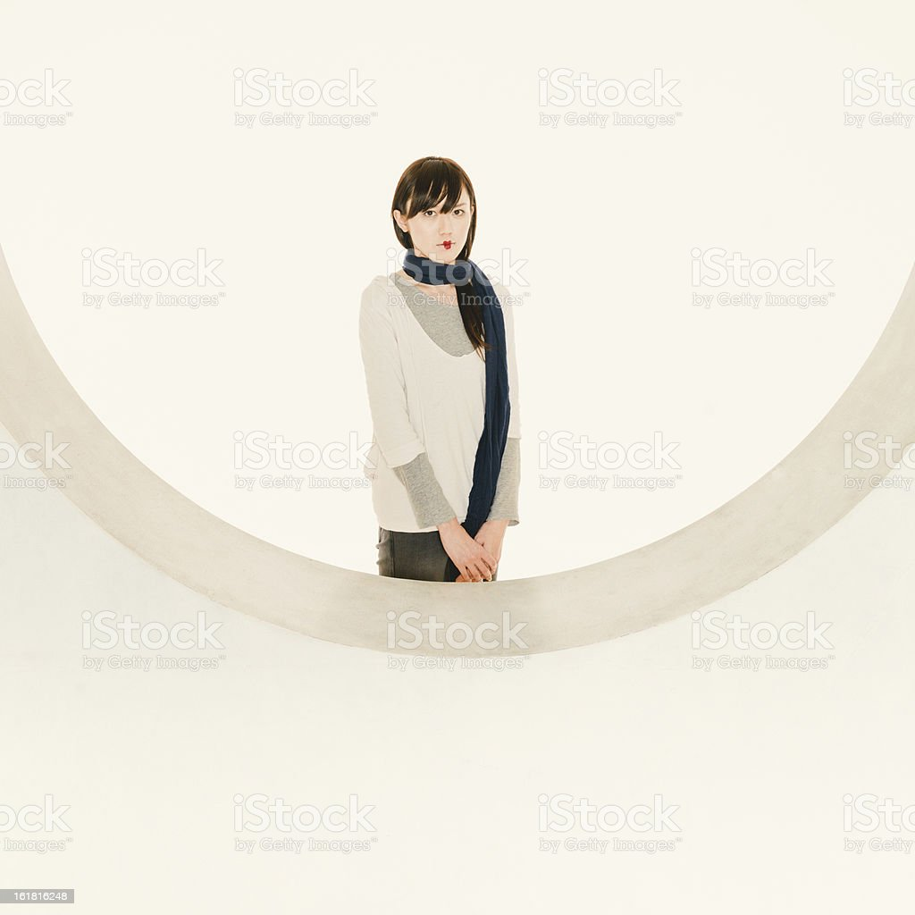 Japanese Young Woman Fashion Portrait royalty-free stock photo