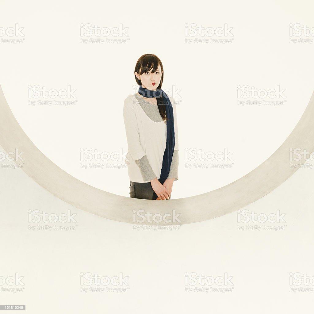 Japanese Young Woman Fashion Portrait stock photo