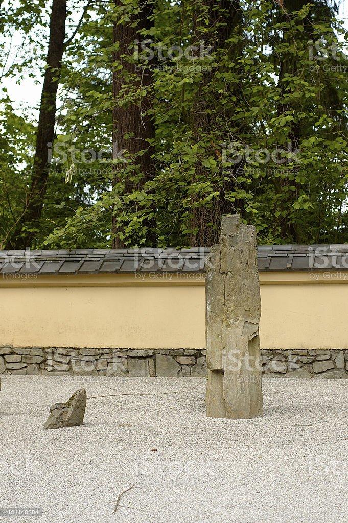 Japanese zen garden royalty-free stock photo