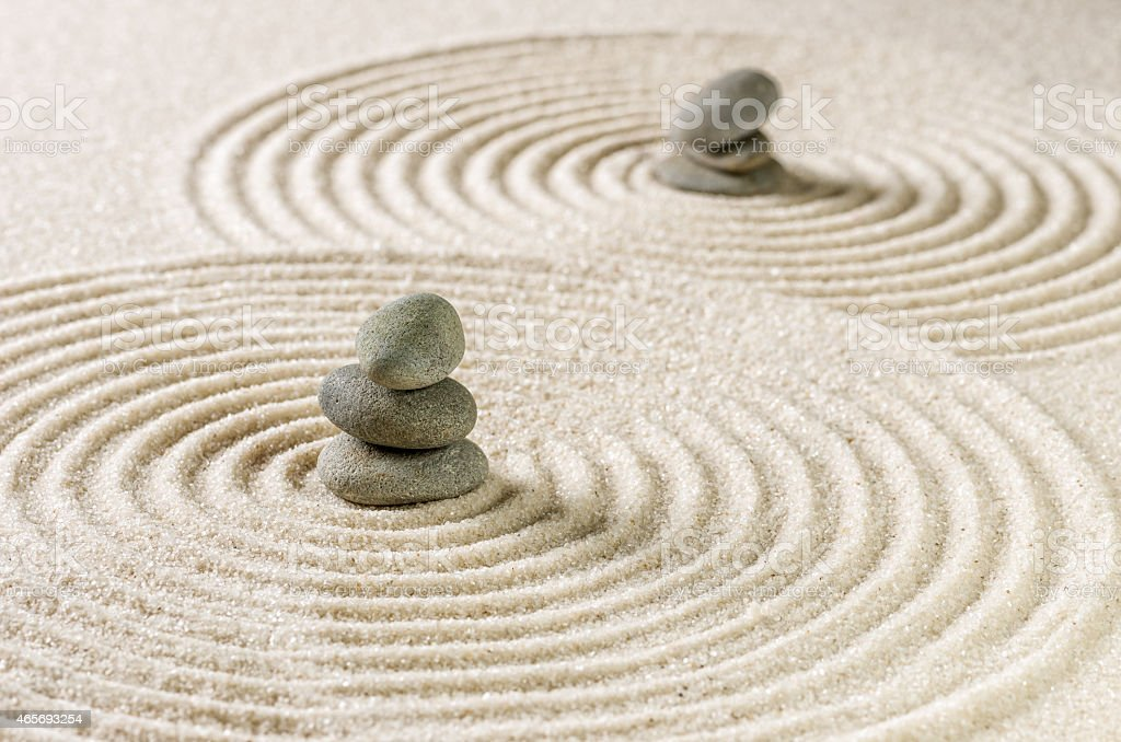 Japanese zen garden stock photo