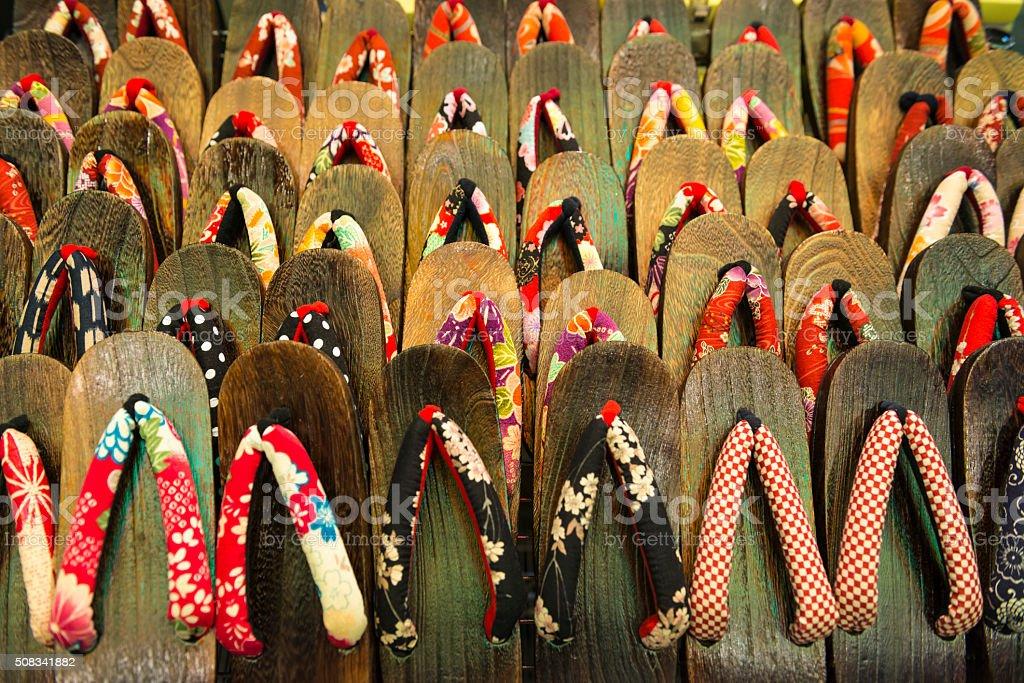 Japanese Zori Sandal stock photo