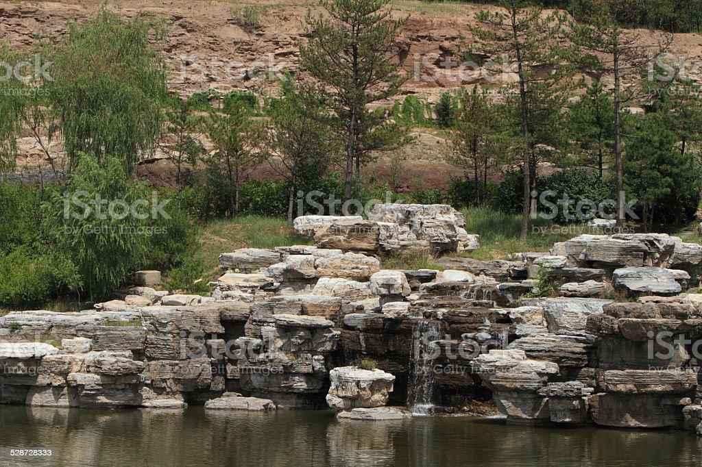 Japanischer Landschaftsgarten stock photo