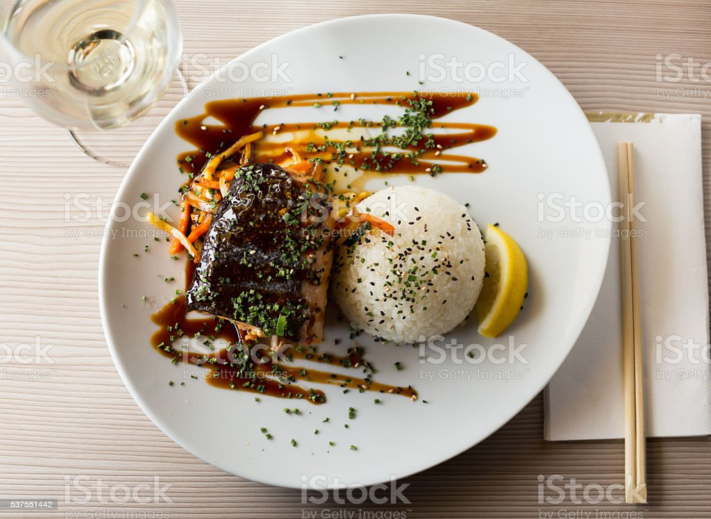 japanise dish shake teriyaki stock photo