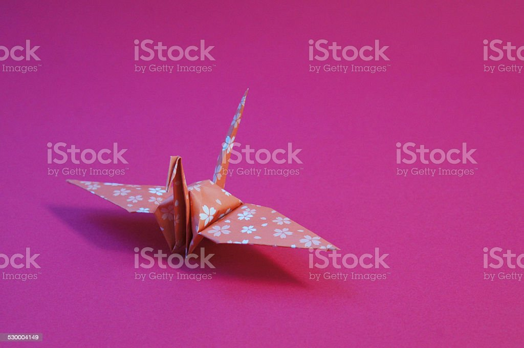 Japan's New Year crane stock photo