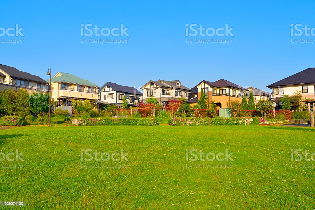 Japan's residential area stock photo