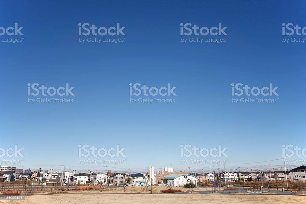 Japan's residential areas stock photo