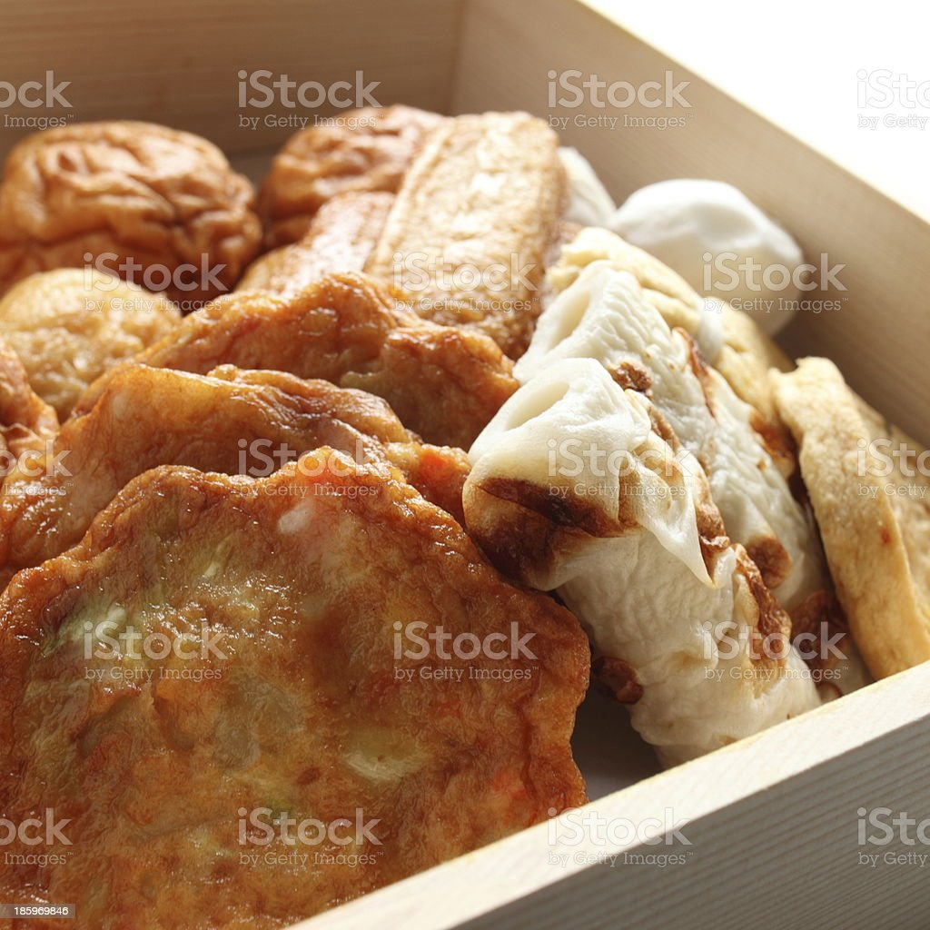 Japanse food, Kamaboko for Oden cooking stock photo