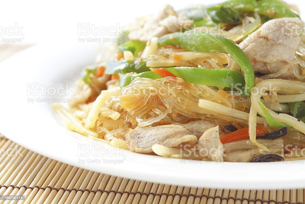 japchae, korean cuisine royalty-free stock photo