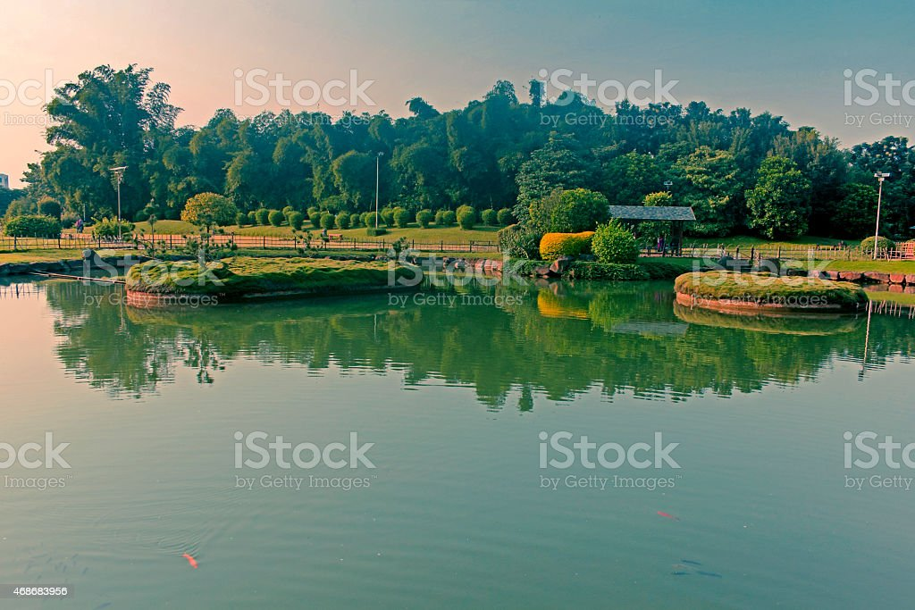 Japnese garden. Pune, Maharashtra, India stock photo