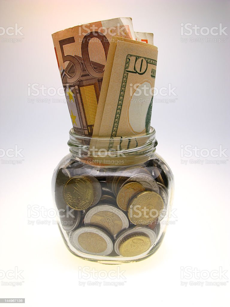 jar and monay royalty-free stock photo