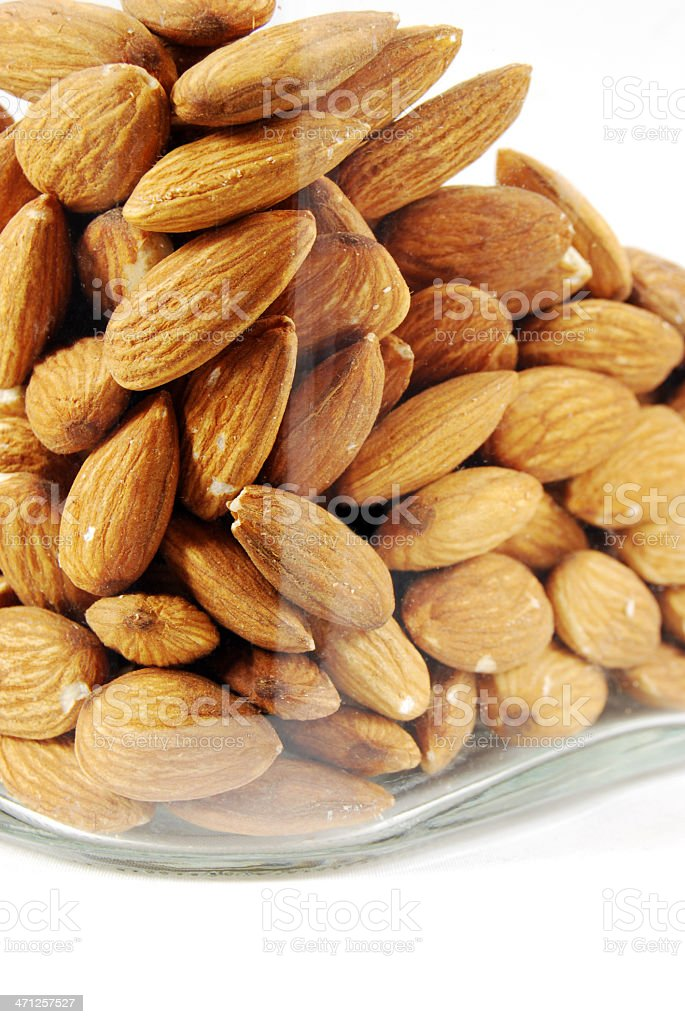 Jar of Almond Nuts royalty-free stock photo
