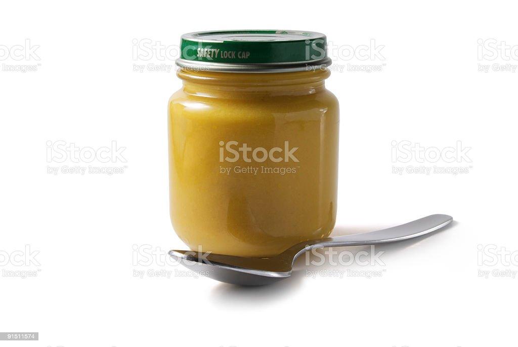 Jar of Baby Food royalty-free stock photo