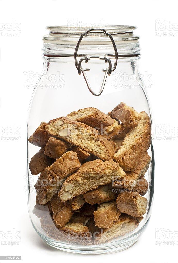 Jar of Biscotti royalty-free stock photo