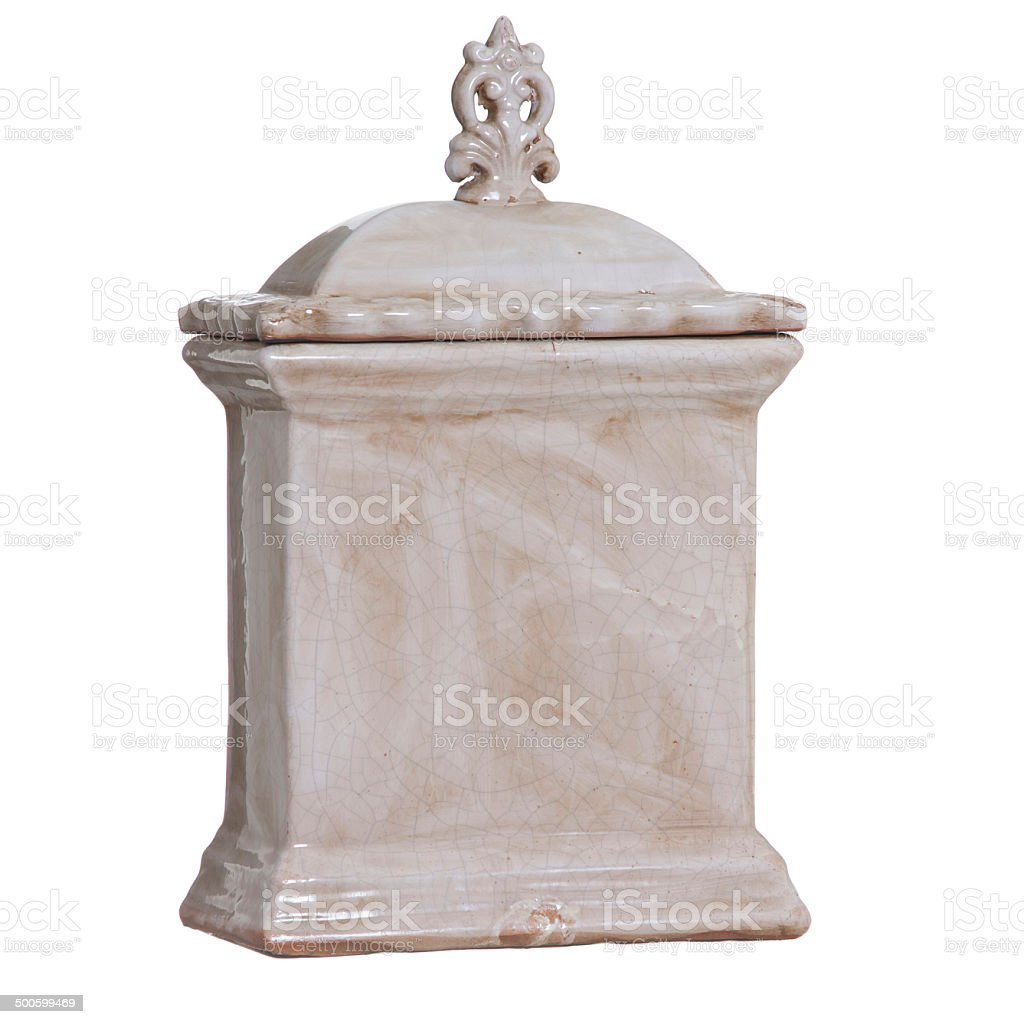 Jar of ceramic royalty-free stock photo