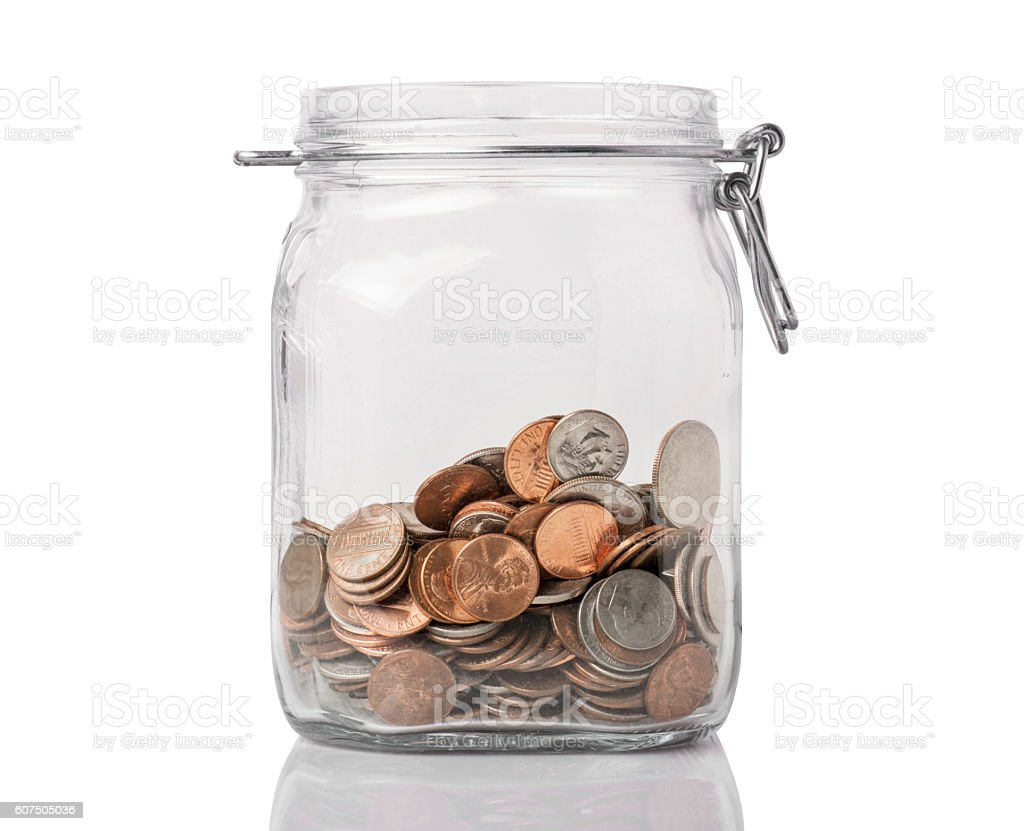Jar of Change stock photo