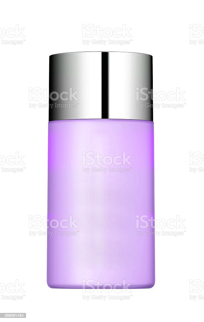 Jar of face cream isolated on white background with reflection stock photo