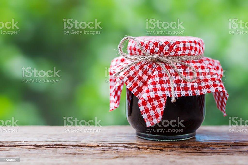 Jar of jam stock photo
