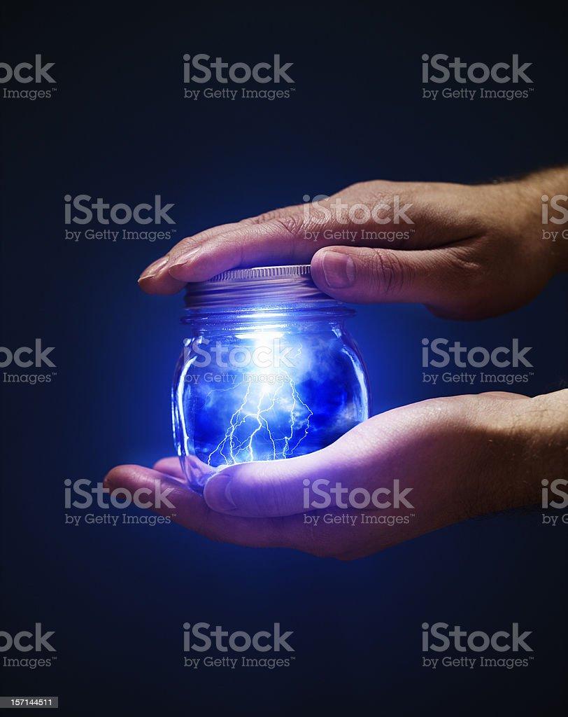 Jar of Lightnings stock photo