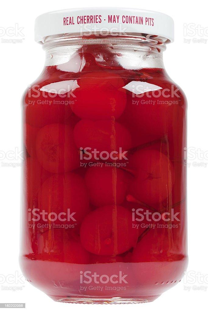 jar of maraschino cherries (XXXL) royalty-free stock photo