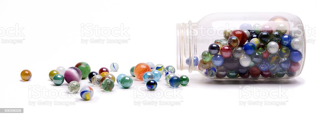 Jar of Marbles royalty-free stock photo