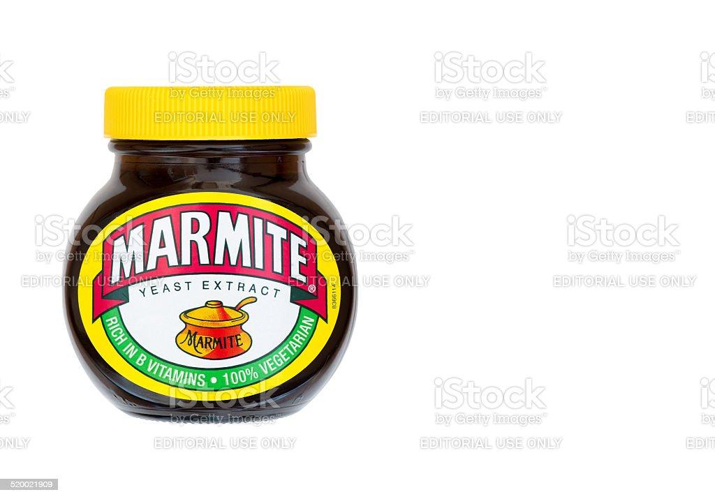 Jar of marmite stock photo