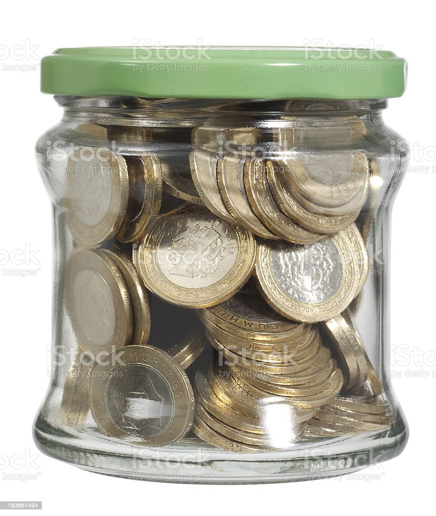 jar of money royalty-free stock photo