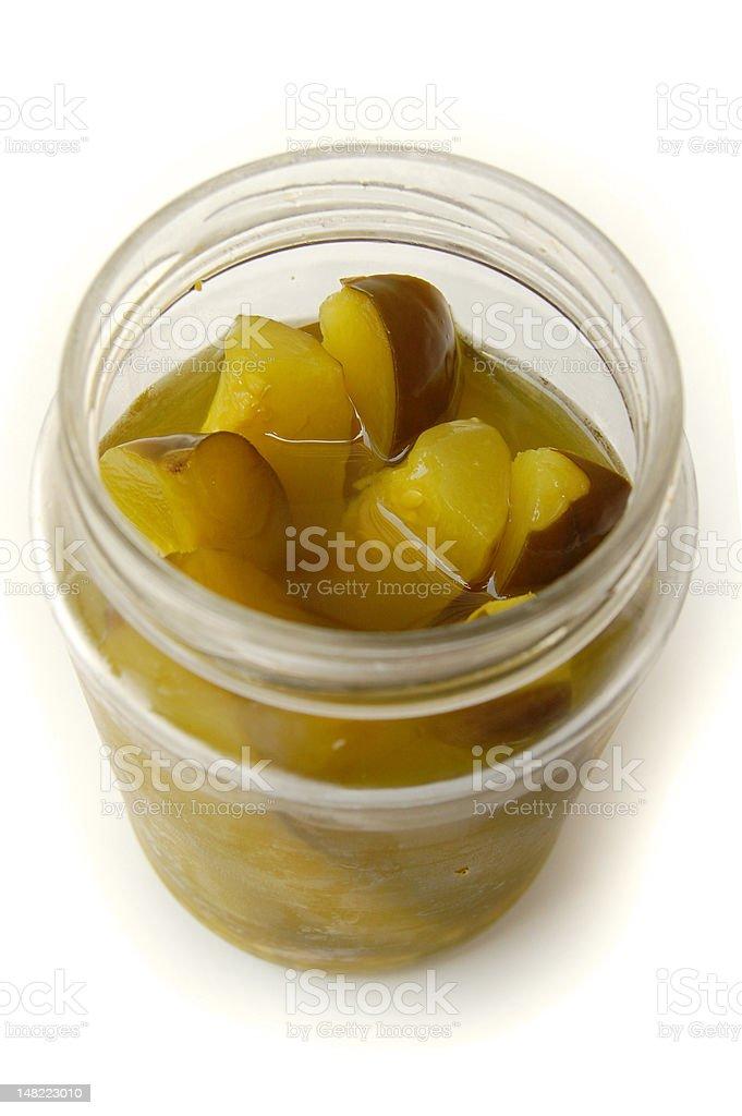Gefäß mit eingelegtem Gemüse Lizenzfreies stock-foto