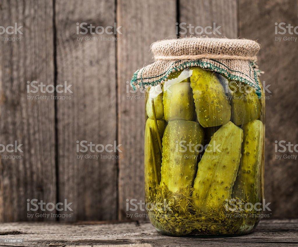 Jar of pickles stock photo